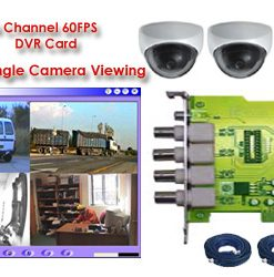COMPLETE 4 COLOR INDOOR DOME CAMERA SYSTEM USING YOUR OWN PC ***PC-Based***
