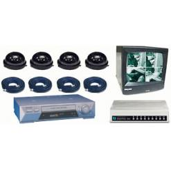 COMPLETE 4 B/W ANALOG DOME SECURITY CAMERA SYSTEM W/*Samsung 960 Hour Recorder*