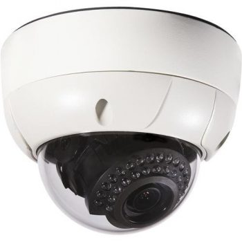 Everfocus EHD500IR Outdoor Vandal IR Color Dome Camera with 3-Axis and Surface or Flush Mount Capability